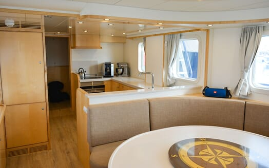 Motor Yacht ELENA Table and Galley
