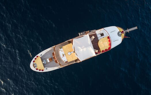 Motor Yacht ENTRANCER Birds Eye View