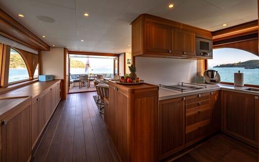 Motor Yacht VELVET GLOVE Galley