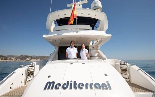 Motor Yacht MEDITERRANI IV Aft Deck Crew
