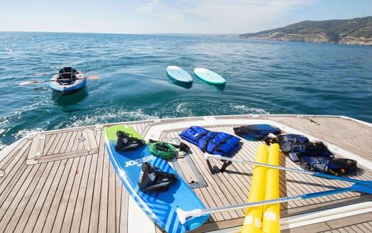 Motor Yacht MEDITERRANI IV Swim Platform and Toys