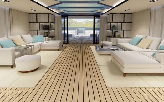 Motor Yacht PROJECT SAPPHIRE Main Saloon