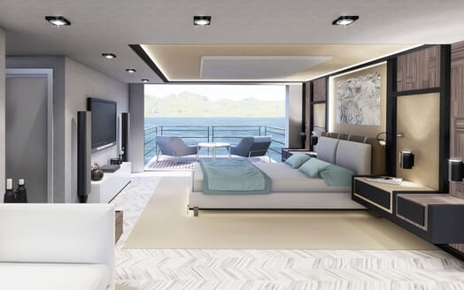 Motor Yacht PROJECT SAPPHIRE Master Stateroom