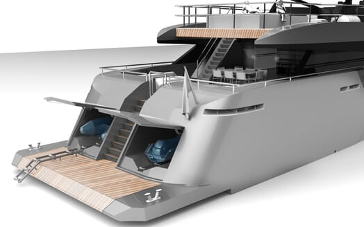Motor Yacht PROJECT SAPPHIRE Tender And Toy Storage