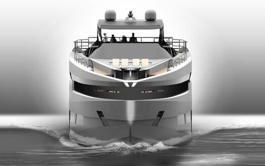 Motor Yacht PROJECT SAPPHIRE Bow Underway