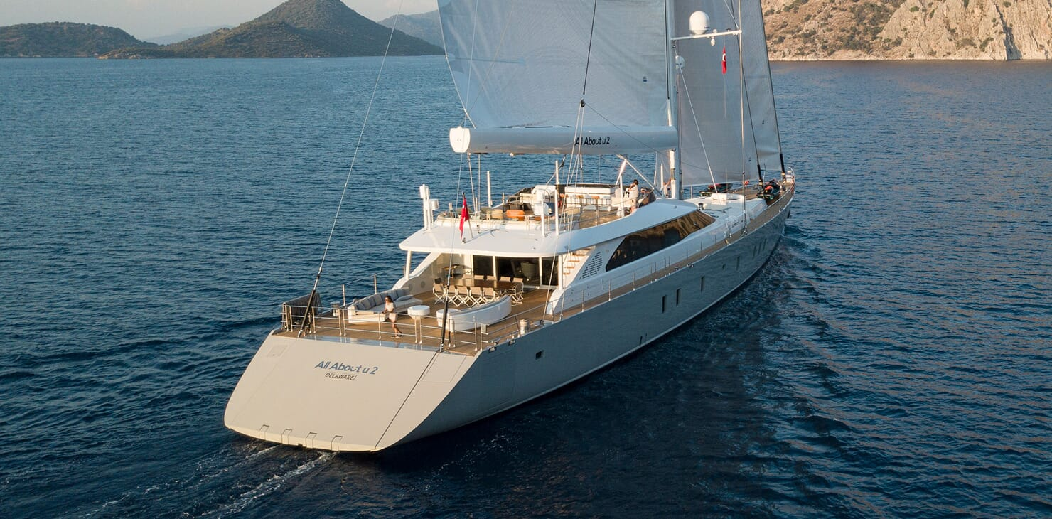 Sailing Yacht ALL ABOUT U 2 Aft Profile