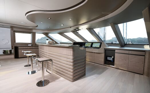 Sailing Yacht ALL ABOUT U 2 Main Deck Wheelhouse and Bar