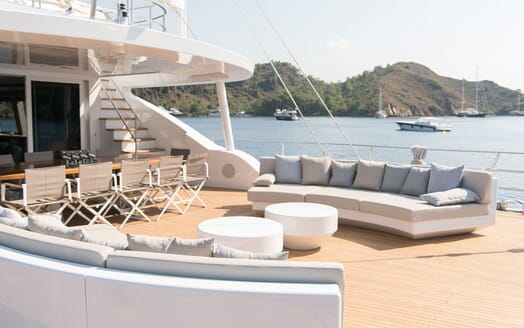 Sailing Yacht ALL ABOUT U 2 Main Aft Deck Seating