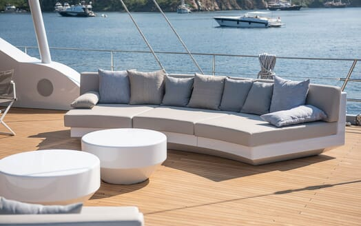 Sailing Yacht ALL ABOUT U 2 Main Aft Deck Sofa