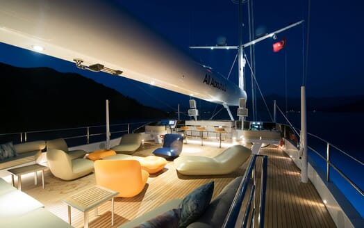 Sailing Yacht ALL ABOUT U 2 Evening Sun Deck Loungers