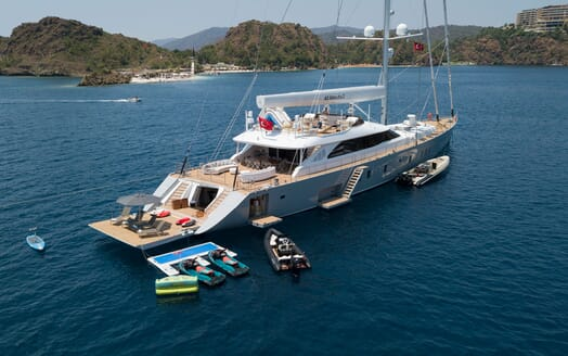 Sailing Yacht ALL ABOUT U 2 Aerial Tenders and Toys