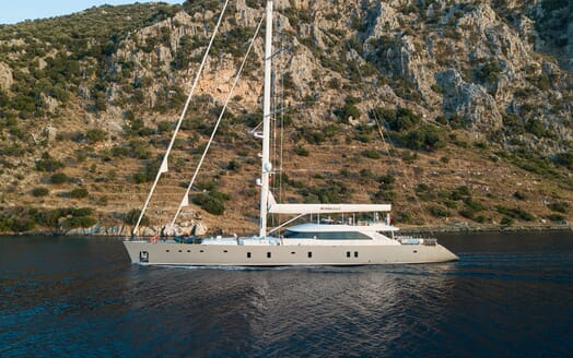 Sailing Yacht ALL ABOUT U 2 Profile Underway