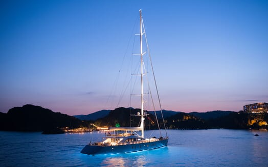 Sailing Yacht ALL ABOUT U 2 Evening Profile