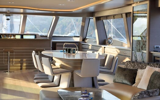 Sailing Yacht ALL ABOUT U 2 Main Deck Dining Table