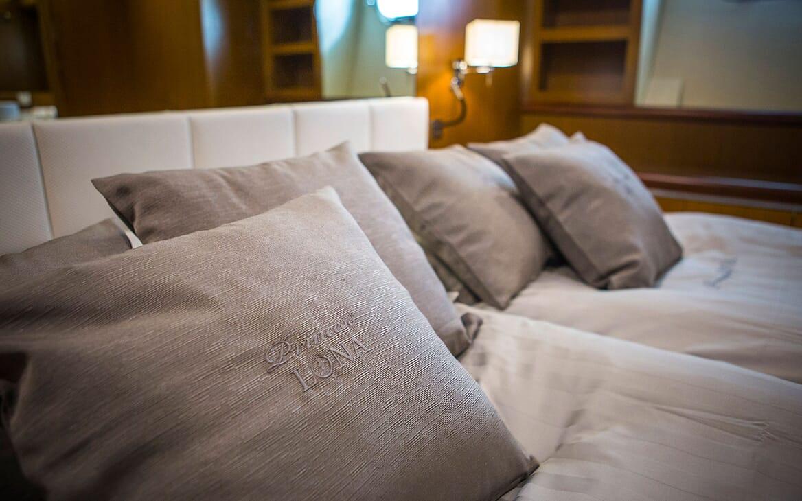 Motor Yacht Princess Lona Pillows