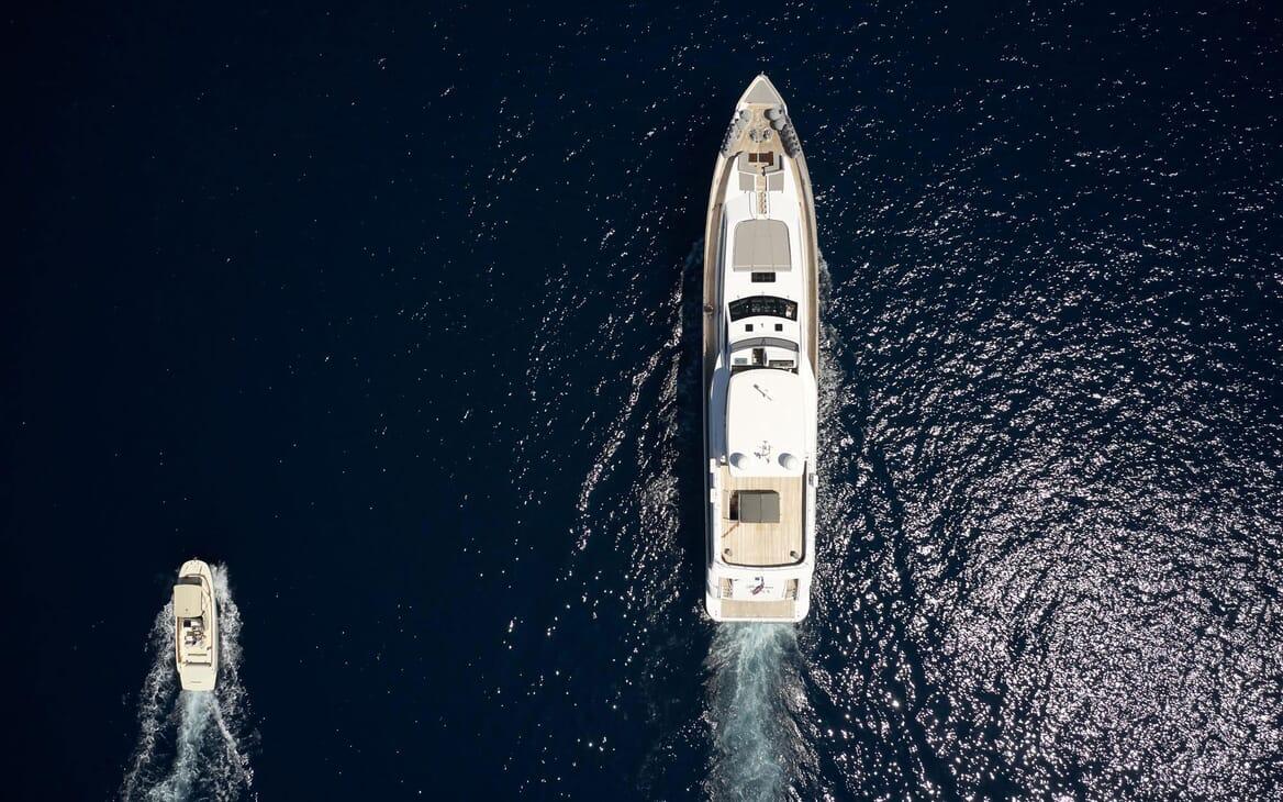 Motor Yacht Princess Lona Aerial Shot