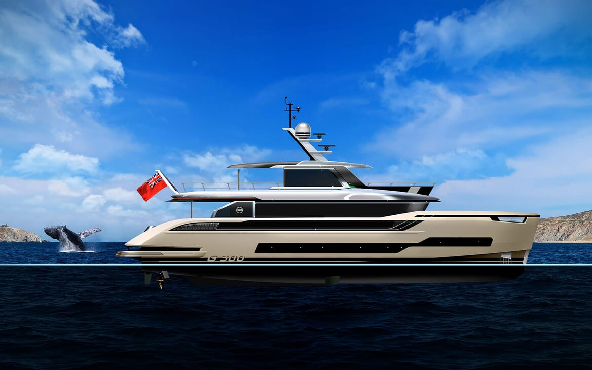 Motor Yacht Dynamiq G300 Side Profile