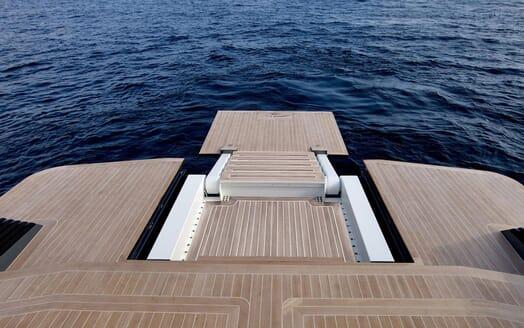 Motor Yacht CLEA Foldable Swim Platform