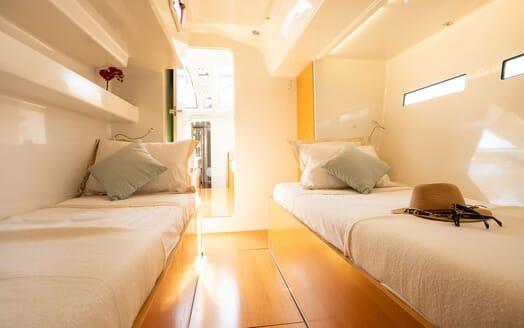 Sailing Yacht MIYABI Twin Guest Single Stateroom 2