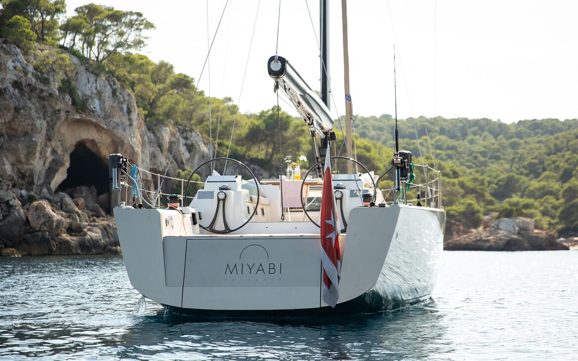 Sailing Yacht MIYABI Aft View