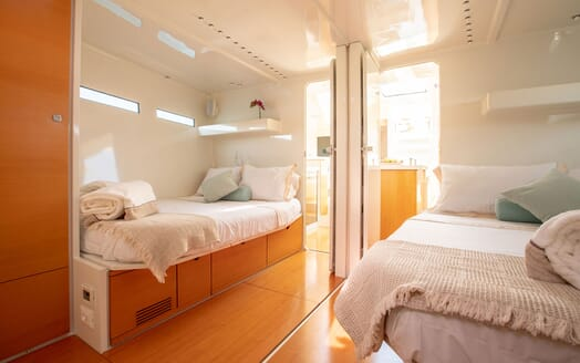 Sailing Yacht MIYABI Twin Guest Stateroom