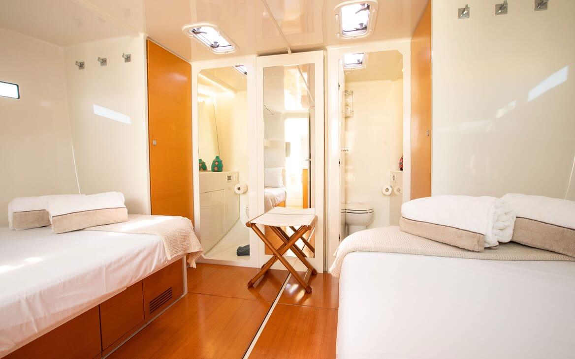 Sailing Yacht MIYABI Twin Guest Stateroom 2