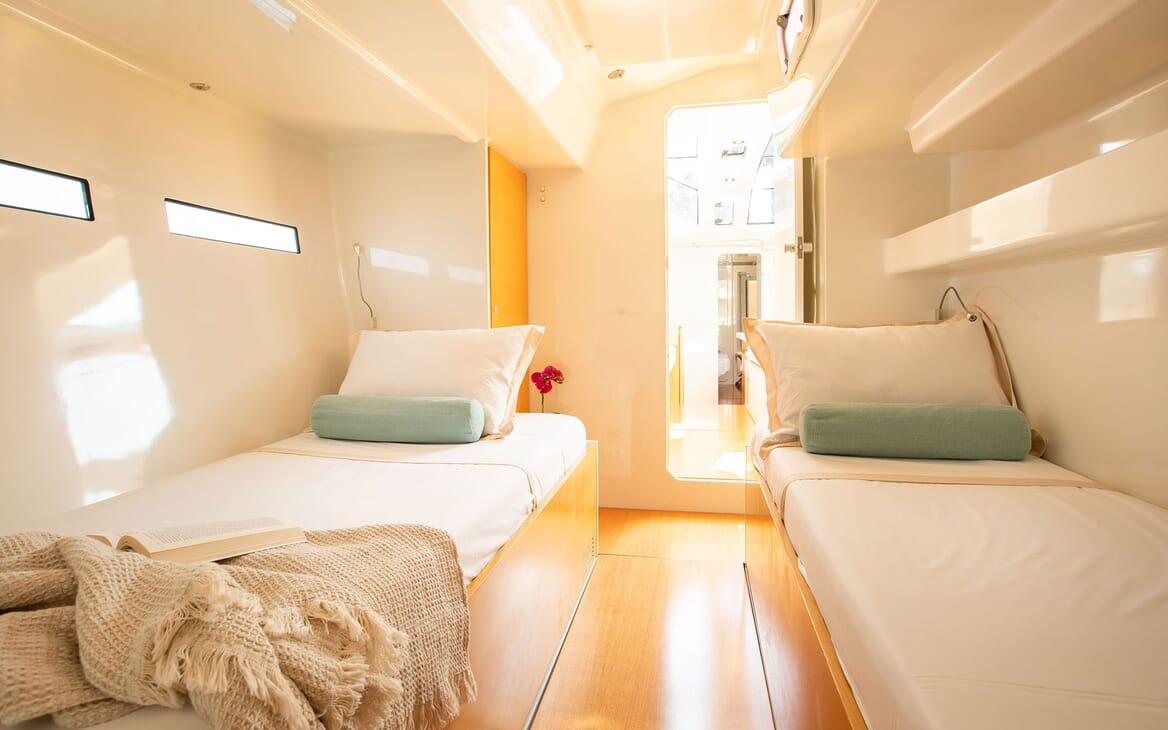 Sailing Yacht MIYABI Twin Single Guest Stateroom