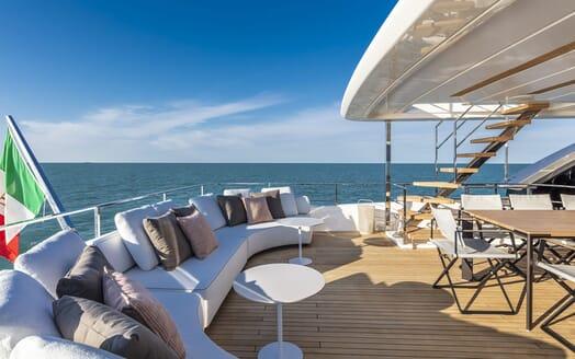 Motor Yacht CIAO Upper Aft Deck