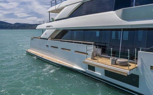 Motor Yacht CIAO Fold Down Balcony
