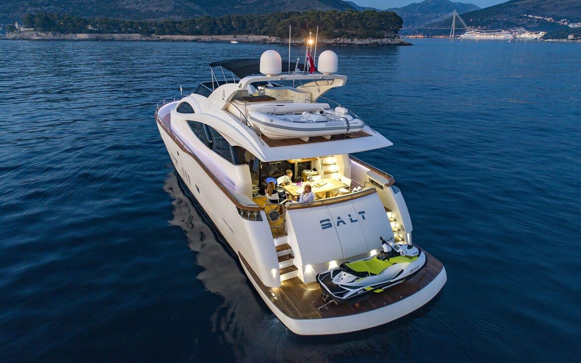 Motor Yacht SALT Evening Aft with Jetski