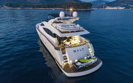 Motor Yacht SALT Evening Aft with Jetski