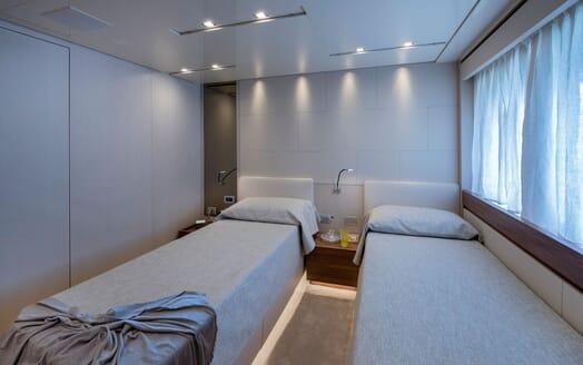 Motor Yacht ANDINORIA Guest Twin Stateroom