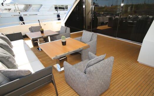 Motor Yacht ANDINORIA Aft Deck Seating