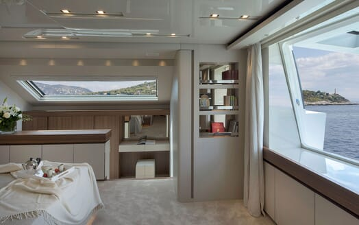 Motor Yacht ANDINORIA Master Stateroom Bookcase