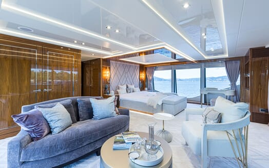 Motor Yacht ANGELUS Master Stateroom and Seating