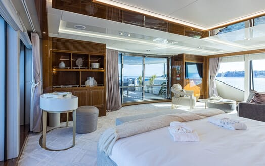 Motor Yacht ANGELUS Master Stateroom to Aft Deck