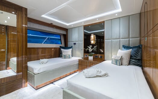 Motor Yacht ANGELUS Guest Twin Stateroom