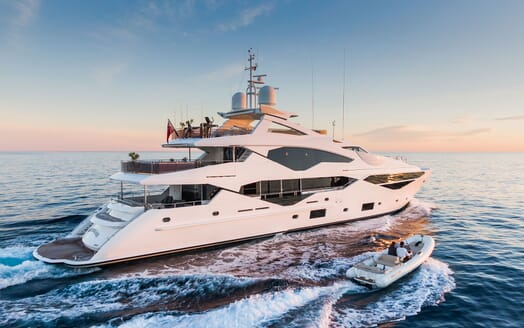 Motor Yacht ANGELUS Exterior with Tender