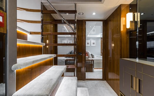 Motor Yacht ANGELUS Hallway Stairs