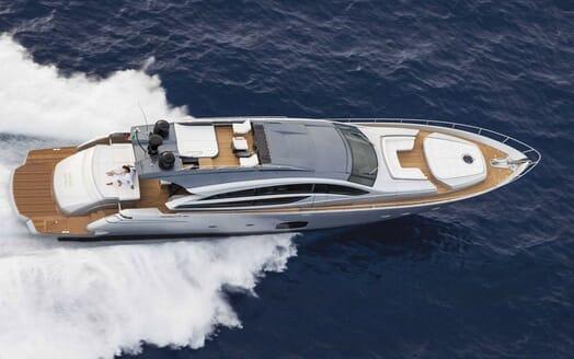 Motor Yacht BAGHEERA Birds Eye Underway
