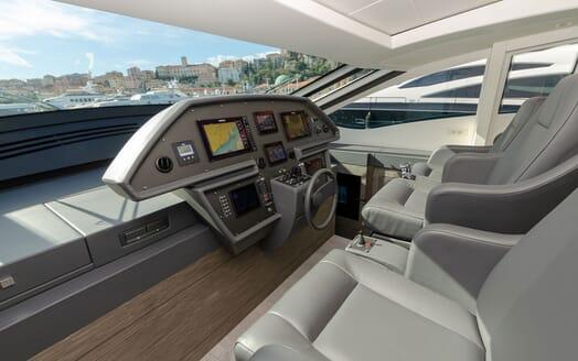 Motor Yacht BAGHEERA Wheelhouse
