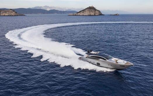 Motor Yacht BAGHEERA Aerial Underway