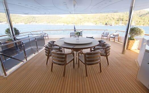 Motor Yacht BABA'S Main Aft Deck