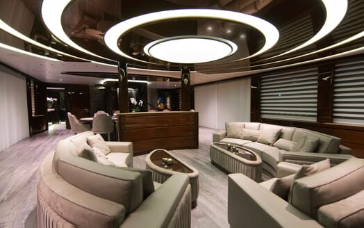 Motor Yacht BABA'S Lower Deck Saloon Seating