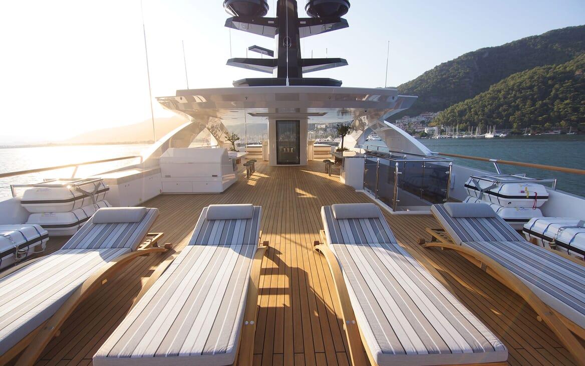 Motor Yacht BABA'S Sun Deck Aft Loungers