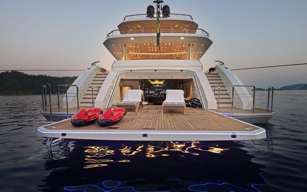 Motor Yacht BABA'S Swim Platform with Toys