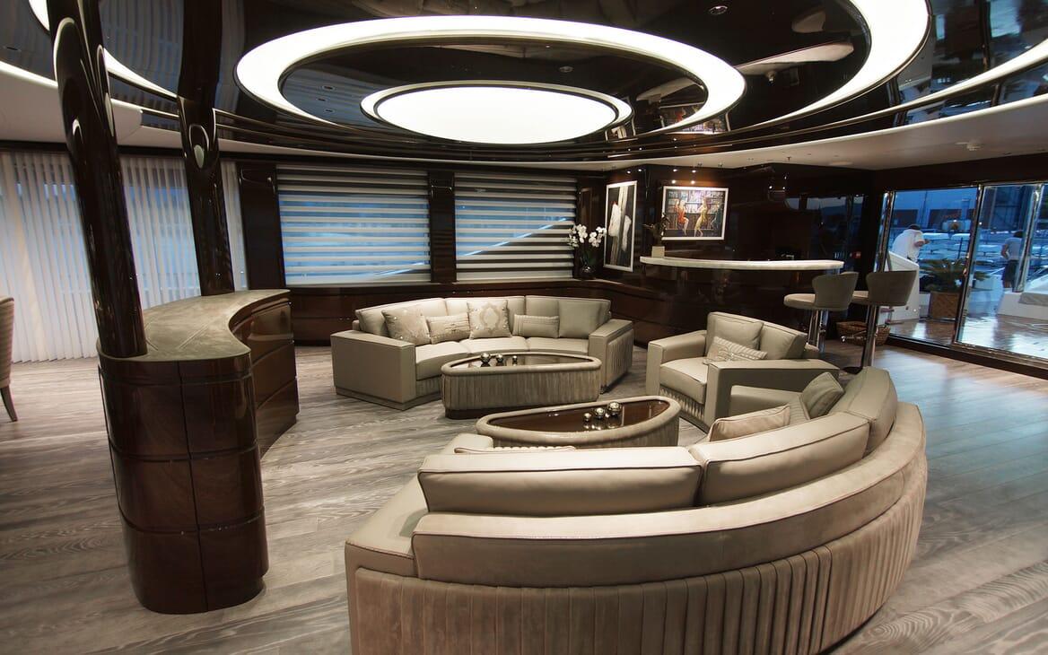 Motor Yacht BABA'S Lower Deck Saloon