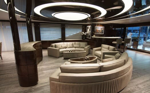 Motor Yacht BABA'S Lower Deck Saloon
