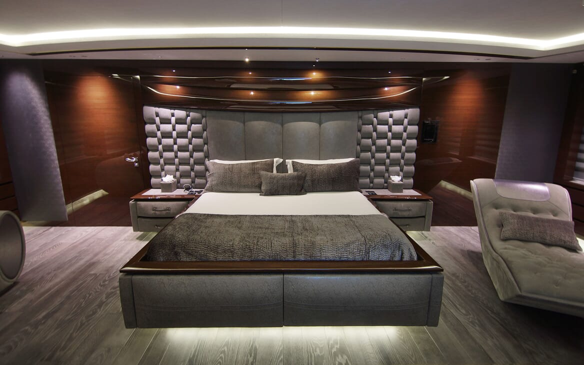 Motor Yacht BABA'S Master Stateroom Front on