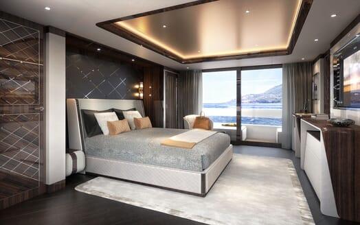 Motor Yacht DYNAMIQ G350 Master Stateroom